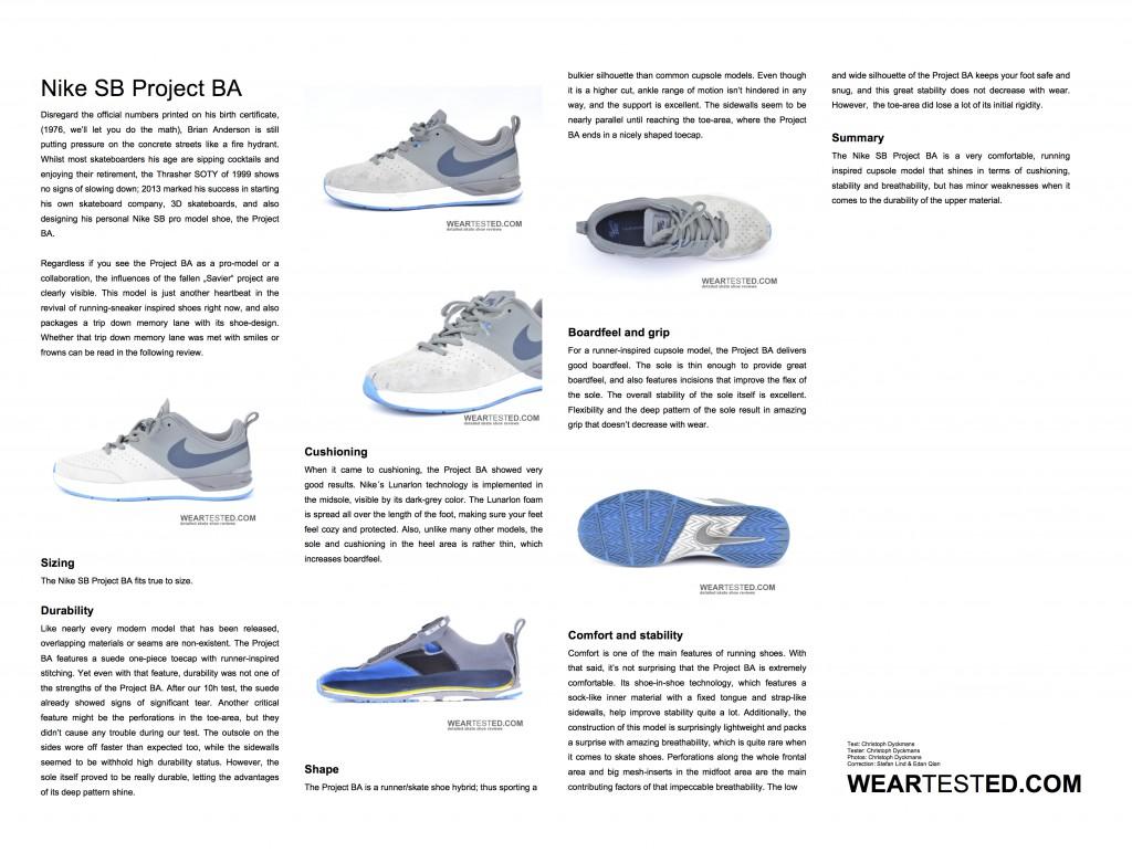 Nike SB Project BA Weartested