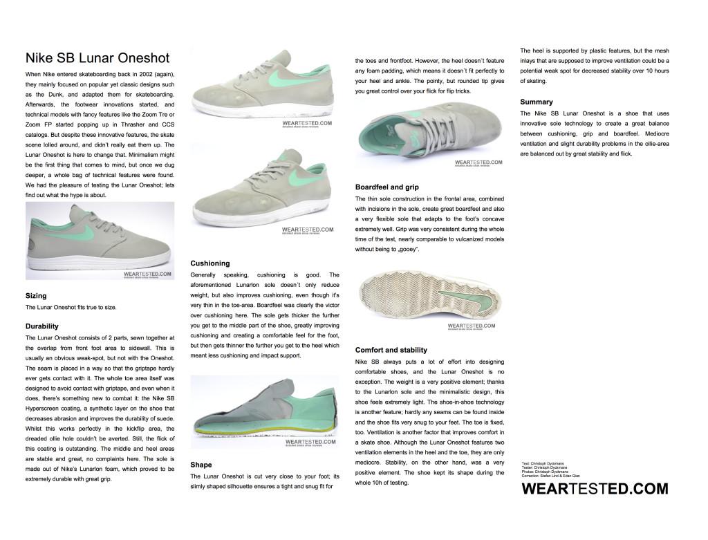 Nike SB Lunar Oneshot - weartested