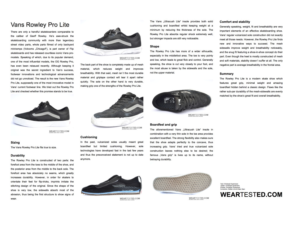 Vans Rowley Pro Lite - weartested
