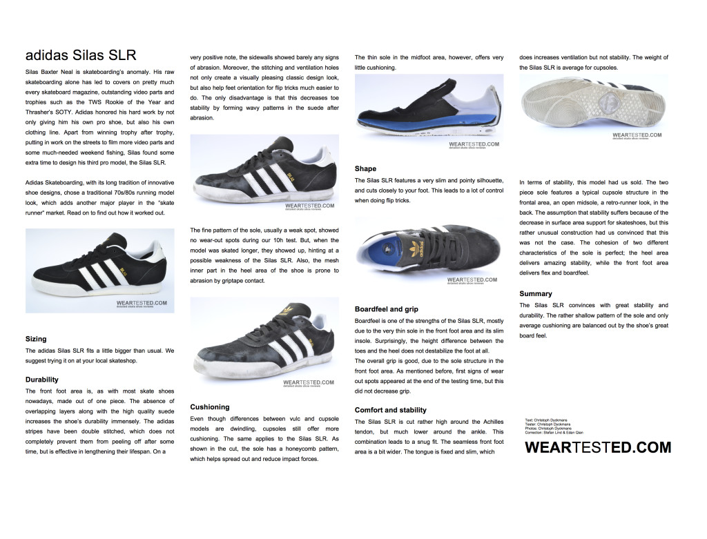 adidas Silas SLR Weartested