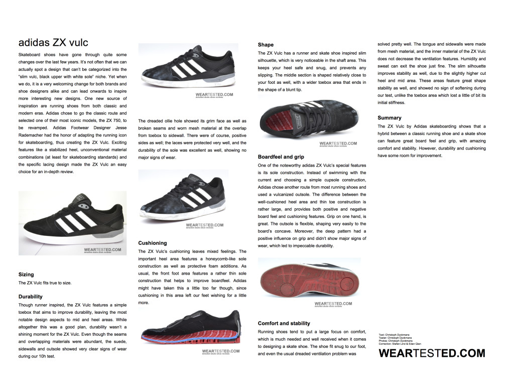 adidas ZX vulc Weartested