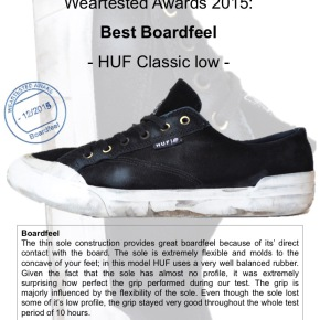 Weartested Awards 2015 - Best Boardfeel