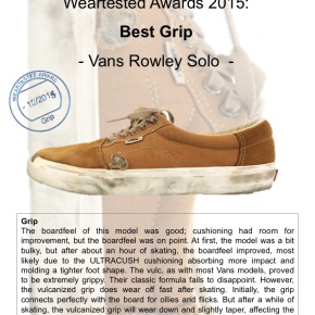 Weartested Awards 2015 - Best Grip