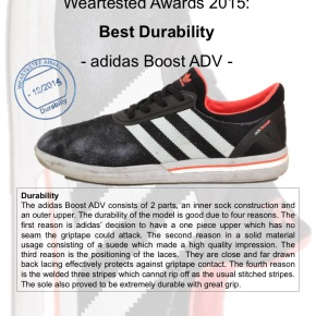 Weartested Awards 2015 - Best Durability