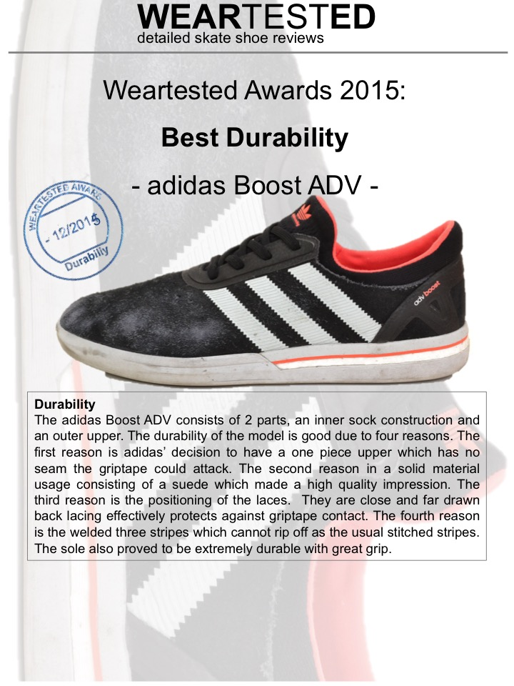 Weartested Awards 2015 – Best Durability