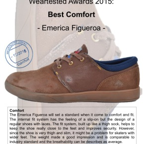 Weartested Awards 2015 - Best Comfort