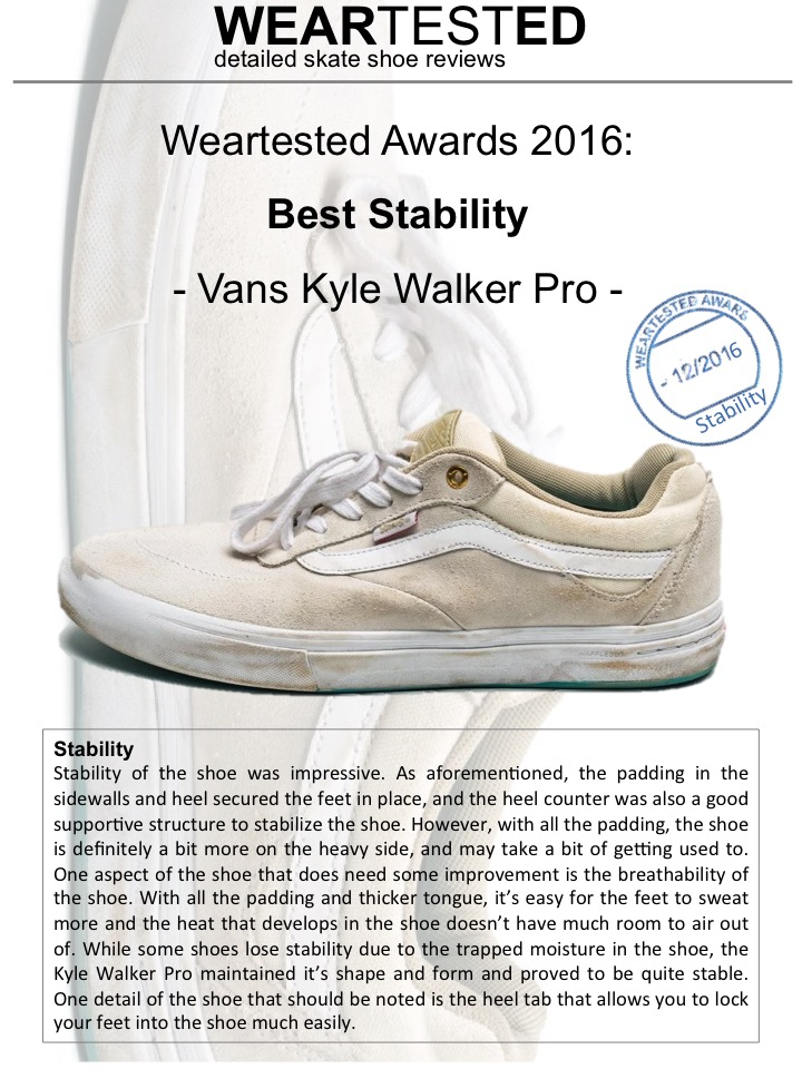 Weartested Awards 2016: Best Stability
